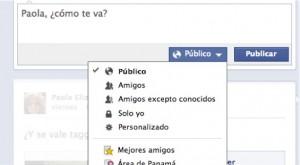 lista de Facebook privacidad