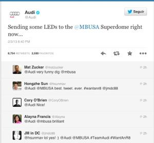 Audi Tweet del SuperBowl