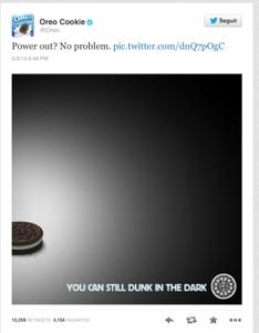 Oreo Tweet del Superbowl