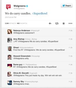 Walgreens Tweet del SuperBowl