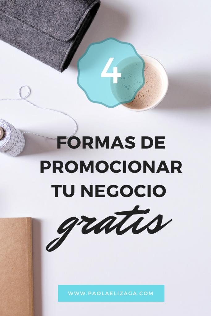 4 formas de promocionar tu negocio gratis